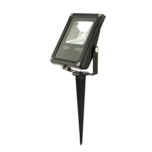 Focos LED de 10 W, Luces de Seguridad LED Que cambian de Color IP65 Luz de Seguridad LED a Prueba de Agua Ahorro de energía con Control Remoto para céspedes para paisajes