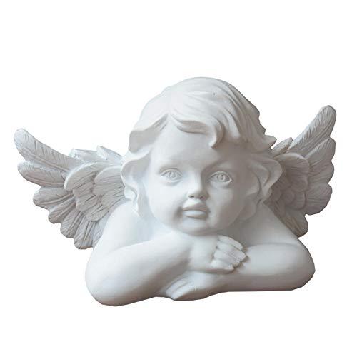 Statue Soprammobile Statuine Decorazione Sculture Statue Soprammobile Statuine Statua in Gesso Angelo Bel Ragazzo Mini Tromba Figura Decorazione da Tavolo Scultura in Resina Accessori per AR
