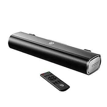 BOMAKER 50W Sound Bar,16-Inch Portable Outdoor 2.0 Soundbar 110dB 3D Surround Sound,3 EQ Modes,Wireless Bluetooth 5.0 Optical/Aux/USB  Cables Included  Built-in DSP Remote Control,Wall Mountable