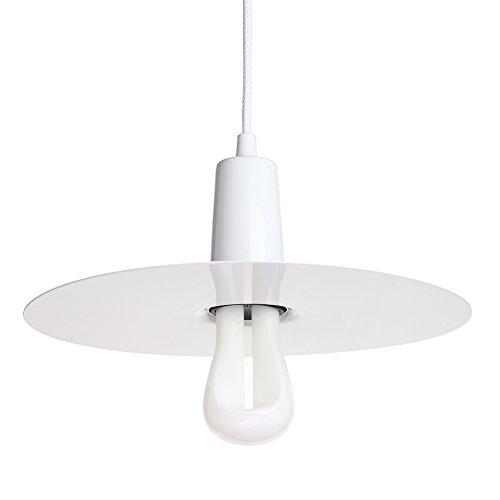 Plumen 1011042201 Set Abat-Jour Drop Hat Suspension Blanc + Straight LED 002 E27, Métal