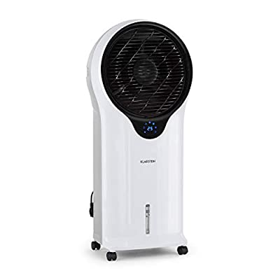 Klarstein Whirlwind - 3-in-1: Air Cooler, Fan, Humidifier, Air Circulation: 1600 m³ / h, Water Tank: 5.5 L, Oscillation Function, 3 Speeds, 3 Operating Modes, Timer, Quiet Operation