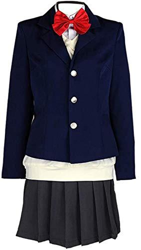Poetic Walk Haikyuu Karasuno High School Kiyoko Shimizu Cosplay Uniform Costume (Womens-XS, Blue)