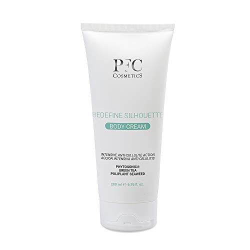 PFC Cosmetics - Crema Corporal Anticelulítica Reductora Hidratante Redefine Silhouette Body Cream 200ml con Phytosonic® Algas Cafeína Manteca de Karité y Carnitina para el Cuidado de la Piel.