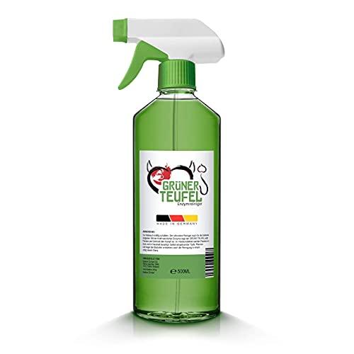 Grüner Teufel – Enzymreiniger (1 Flasche je 500 ml)   Teppichreiniger, Küchenreiniger - Polsterreiniger – Allzweckreiniger   Ideal für Sofa, Auto, Sitze, Polster