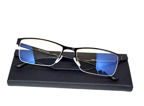 Blaulichtfilter Brille Farbechte Sicht · Blaufilter | Büro Blaulichtfilter Brille Metall Halbrahmen · Schutz vor PC Fernseher und Handy Bildschirmen · Blaulicht Filter Schutzbrille