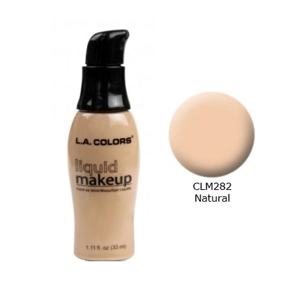 潮スナック粘り強い(6 Pack) LA COLORS Liquid Makeup - Natural (並行輸入品)