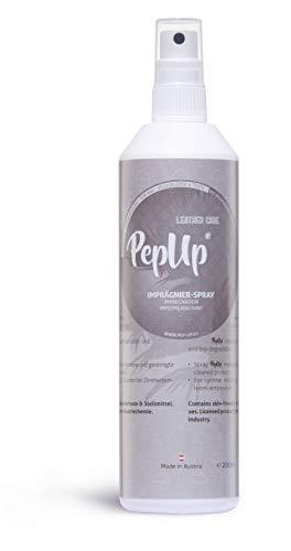Pep*UP Leder & Textil Imprägnier-Spray mit Bio Rosmarinöl - für Rau-, Velours- und Nubukleder sowie für alle Textilien