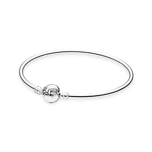 Pandora Damen-Armband Armreif Schleifchen 925 Silber Zirkonia transparent Brillantschliff 17 cm - 590724CZ-17