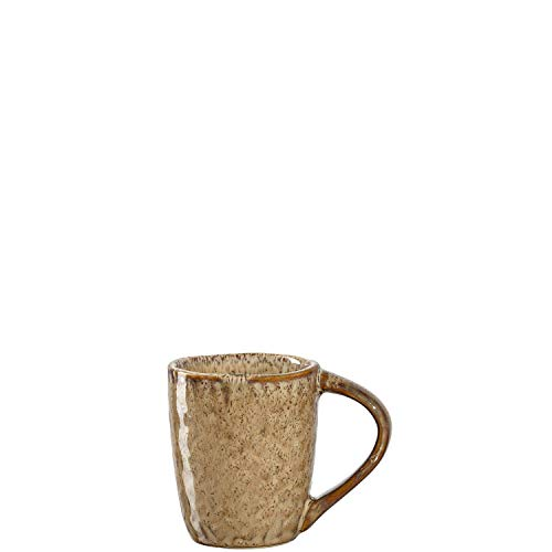 Leonardo Matera Espressotassen Set, 4 Stück, Mokka-Becher aus Steingut, spülmaschinengeeignete Espresso-Gläser, Keramik-Tassen, beige 90 ml, 018595
