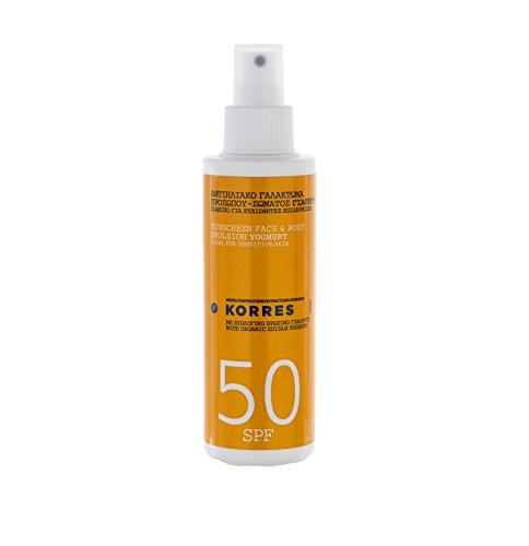 Korres Yoghurt Sonnenemulsion für Gesicht und Körper SPF 50, 1er Pack (1 x 150 ml)