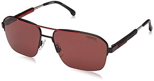 CARRERA SUNGLASSES 8028 S 003 W6 BLACK RED POLARIZED HD LENSES 100% UV PROTECT