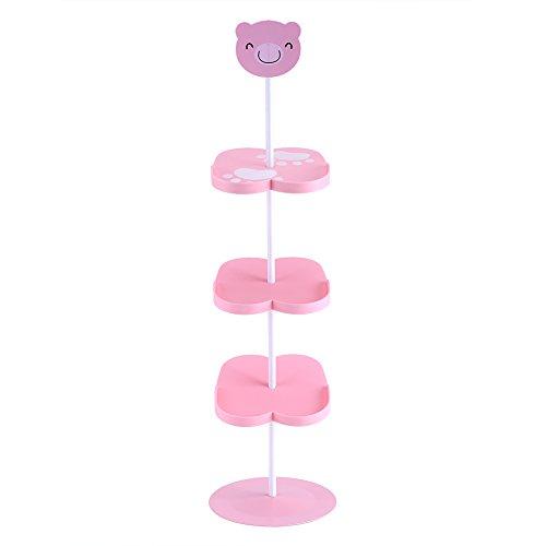 Yosoo, supporto per scarpe, porta scarpe da bambino, scarpiera per 4 paia, scarpiera mignon orso rosa