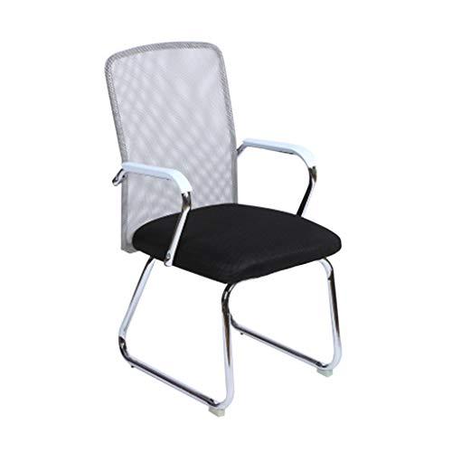 Chaise respirante, confortable, facile à nettoyer, chaise, dortoir, chaise, chaise pour personnel, chaise pour ordinateur, chaise de réception (Couleur : NOIR)
