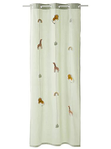 Vertbaudet Tansanien-Vorhang, 105 x 180 cm, Grün