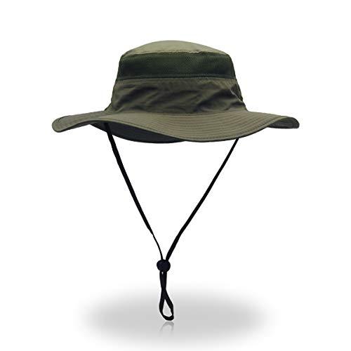 VICSPORT Sombrero de Sol para Hombre Mujer Factor de protección 50 UV, Sombreros de Pesca para Exteriores, Estilo Pescador con Rejilla, 56-61 cm