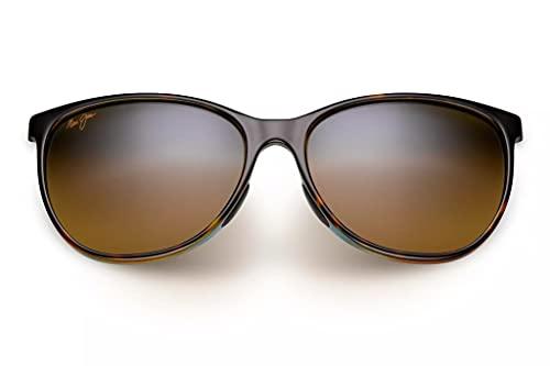 Maui Jim Ocean Sport Sunglasses, Tortoise W/Peacock/Hcl Bronze Polarized, Medium
