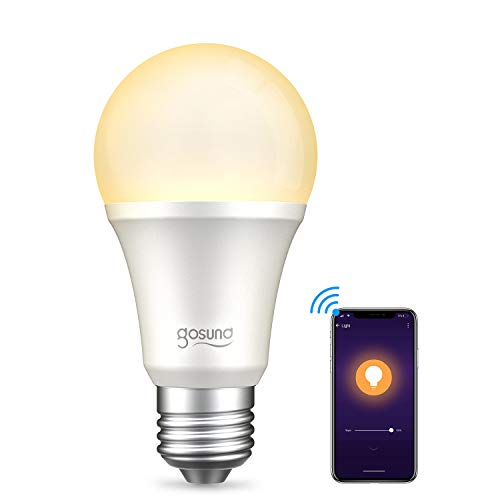 {【Amazon Alexa認定】ゴウサンド(Gosund) WiFiスマート電球 スマート LED ランプ 電球色 調光・タイプ E26 スマートライト Alexa/Google home対応 追加機器不要 1個 LB1-1}