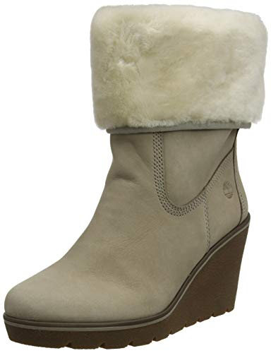 Timberland Paris Height Shearling, Bottes Femme, Beige...