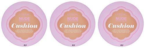 Natürliches Grundierung Nude Magique Cushion 07 Golden Beige mit LSF 29, 3er Pack (3 x 15 g)