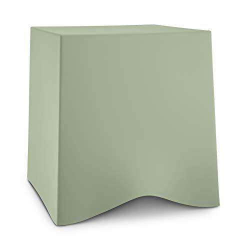 Koziol BRIQ Hocker, Eucalyptus Green, Thermoplastischer Kunststoff, 428x406x416mm