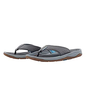 Grundens Men's DECK-BOSS Sandal   Durable Supportive Monument Grey M 13