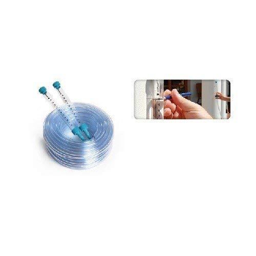 Cellfast Schlauchwasserwaage aus hochwertigem Kunststoff es hat bruchsichere Trichter mit Millimeter-Skala, erleichtert die Nivellierung der Punkte, 22-102