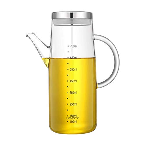 Zhiyangmaoyi オイルポット 調味料入れ ドレッシングボトル オイルボトル 醤油差し スパイスボトル 耐熱ガラス オイルボトル 750ml