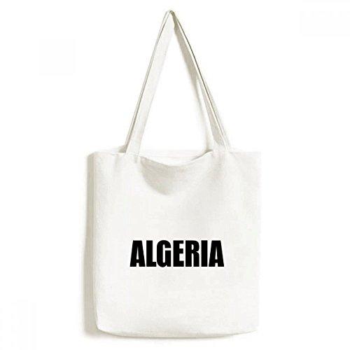 DIYthinker Algerien Land Namen Schwarz Environmentally-Tasche Einkaufstasche Kunst Waschbar 33cm x 40 cm (13 Zoll x 16 Zoll) Mehrfarbig
