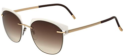 Silhouette Gafas de Sol ACCENT SHADES 8702 Transparent White/Brown Shaded talla única mujer