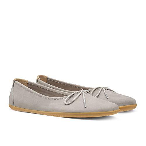 Vivobarefoot Womens Jing Jing Lace Nubuck Zinc Shoes 7.5 US