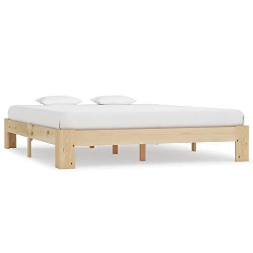 vidaXL Massief Grenenhouten Bedframe 180x200 cm Bed Frame Ledikant Bedombouw