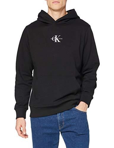 Calvin Klein Chest Monogram Hoodie Suéter, CK Negro, S para Hombre