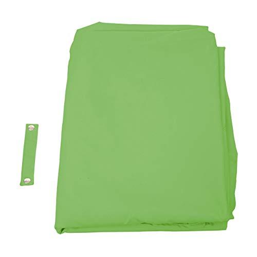 Mendler Bezug für Ampelschirm HWC-A39, Sonnenschirmbezug Ersatzbezug, 3x3m (Ø4,24m) Polyester 2,8kg ~ grün