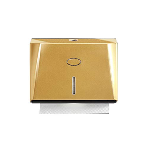 Hasayo Distributore Carta Asciugamani Parete Tessuto A Mano Supporto del Tovagliolo di Dispenser Chiave-for Albergo delle Famiglie (d'oro) (Color : Gold)