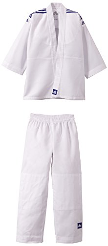 adidas Kimono DE Judo NIÑOS EVOLUTIVO J200E (White, 150)