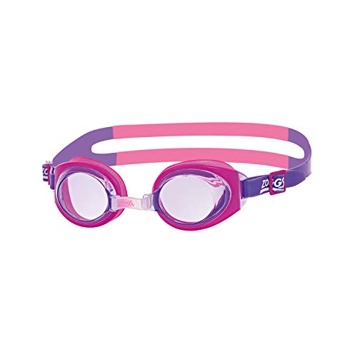 Zoggs Kinder Little Ripper Schwimmbrille, Pink/Purple/Clear, One Size
