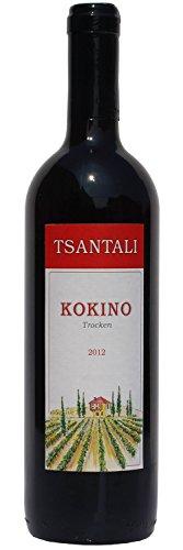 Tsantali KOKINO - griechischer Rotwein trocken 750ml Flasche - trockener Rot Wein aus Griechenland Tafelwein