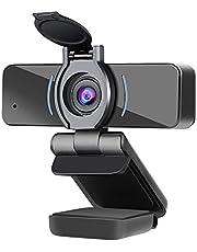 Dericam Webcam HD 1080p Web Camera, USB PC Computer Webcam with Microphone, Laptop Desktop Full HD Camera Video Webcam, Streaming Webcam for Recording, Calling, Conferencing, Gaming