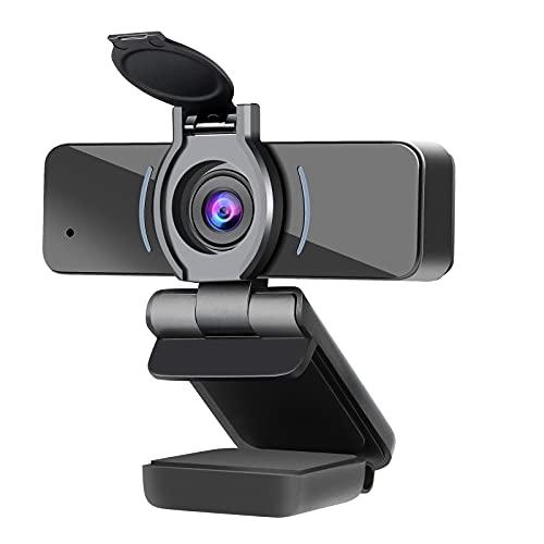 DERICAM Webcam, 1080P Webcam mit Mikrofon, USB Computer Webkamera, Plug and Play Desktop und Laptop Webcam für Windows Mac OS, für Videoanrufe, Streaming, Konferenz, Spiele, Online Unterricht