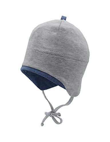 maximo Baby-Jungen Jerseymütze Beanie-Mütze, Graumeliert/bluemeliert, 39