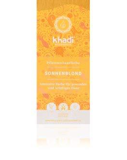 KHADI - Tinta Vegetale in Polvere Biondo Miele - 100% Naturale - Per tutti i tipi di capelli - Rinforzante e Nutriente - Certificato BDIH - Vegan - 100 gr