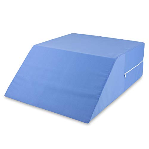 DMI Bed Wedge Ortho Pillow for Leg Elevation, Sciatica, Pregnancy, Back or Hip Pain, 23 x 20 x 7, Blue