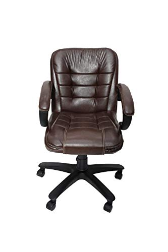 MAJESTIC® Mid Back Revolving Office Chair (BT-321-BROWN)