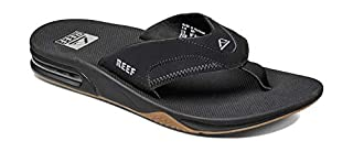 Reef Men's Fanning Sandals, Black (Black / Silver), 7 UK (B00ZUY6UQ4) | Amazon price tracker / tracking, Amazon price history charts, Amazon price watches, Amazon price drop alerts