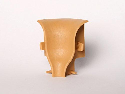Innen- und Außenecken, Verbinder und Abschlüsse für Sockelleisten 40mm (Innenecke, Uni Buche)