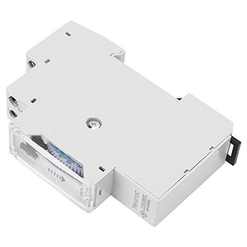 Interruptor de tiempo más reciente EVTSCAN Interruptor de sincronización inteligente de riel 1P de alta precisión para luz de calle TM610C 220V