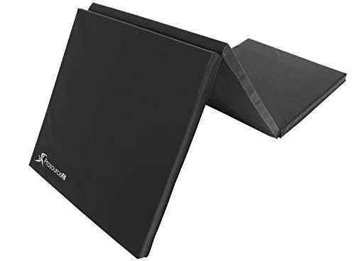 ProsourceFit Tri-Fold Folding Exercise Mat - Black