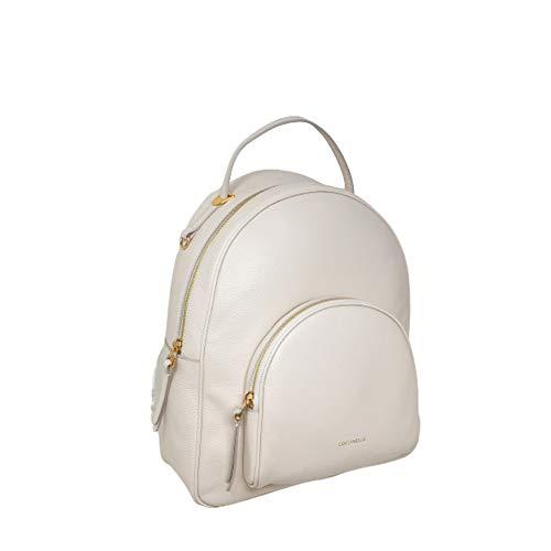 Coccinelle Lea Rucksack Lambskin White Weiß aus Leder für Damen 35 x 29,5 x 16 cm