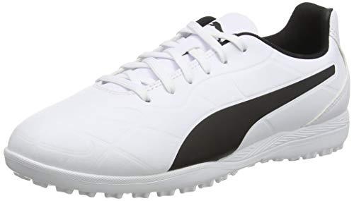 PUMA Monarch TT Jr, Scarpe da Calcio Unisex-Adulto, White Black, 36 EU