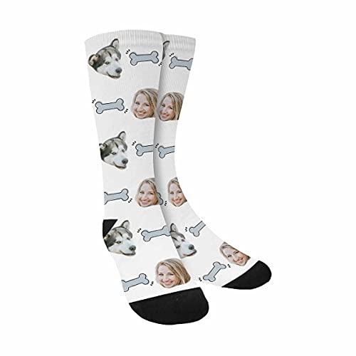 Calcetines personalizados para fotos con cara de mascota, añade tu cara y mascota, calcetines personalizados, perro, gato, añadir cualquier mascota, Multi 005, Talla única
